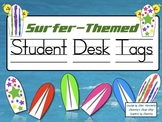Surfer-Themed Student Desk Tags