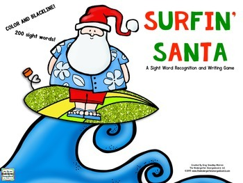 Sight Words!  Surfin Santa!  A Christmas Sight Word Recogn