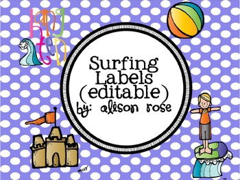 Surfing Labels editable