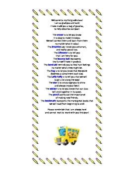 3rd Grade Survival Kit Poem