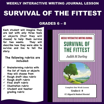 Interactive Weekly Writing Notebook Lesson - Survival Of T