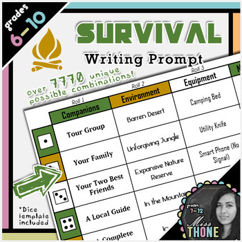 Survival Roll-A Writing Prompt