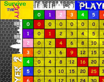 Survive The City a Multiplication Flash Card Game