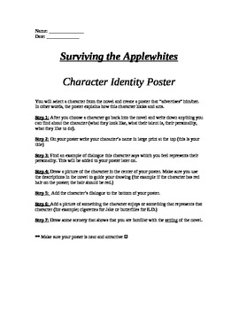 Surviving the Applewhites character identity poster