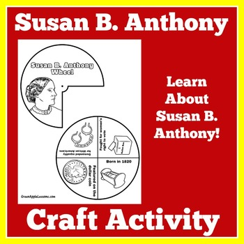 Susan B Anthony Activity | Susan B Anthony Craft | Womens