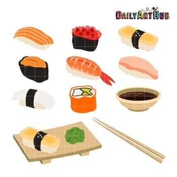Sushi Clip Art - Great for Art Class Projects!
