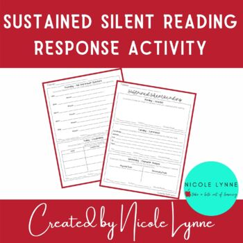 Sustained Silent Reading Response Activity