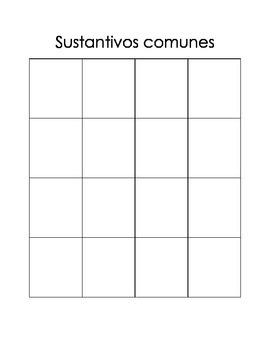 Sustantivos Comunes