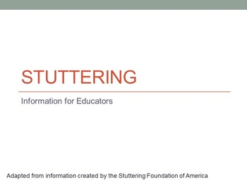 Suttering 101: Information for Educators