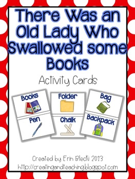 Swallowed Some Books Activity Cards
