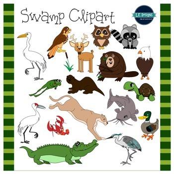 Swamp Clipart {L.E. Designs}