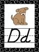 Swarthy {Black & White} Themed Alphabet Posters {modern ch