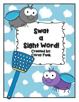 Swat A Sight Word!  Kindergarten Sight Word Game/Activity