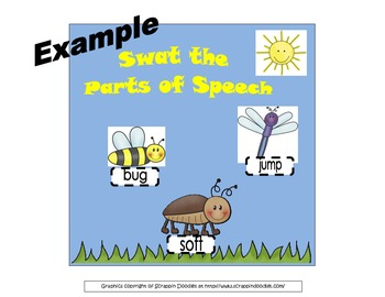 Swat the Parts of Speech Interactive Bulletin Board/Litera