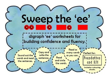 Workbook DIGRAPH/PHONICS 'ee' and 'oo' Reading/Writing