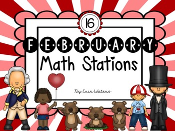 {Sweet 16} February Math Stations