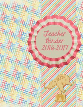 Sweet Carnival Theme  Teacher Binder for 2016-2017