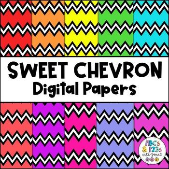 Sweet Chevron Digital Paper