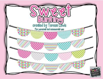 Sweet Curved Bunting Banner