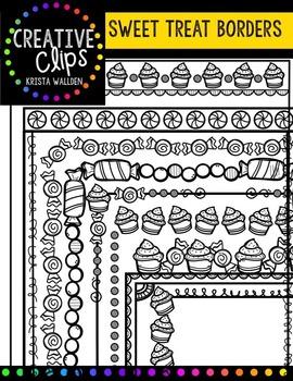Sweet Doodle Borders {Creative Clips Digital Clipart}