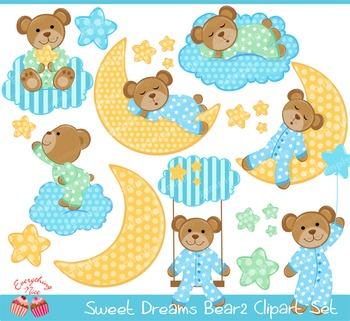 Sweet Dreams Bear 2 Clipart