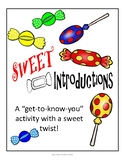 """Sweet"" First Day of School Activity"