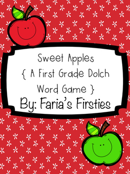 Sweet First Grade Dolch Apple { A First Grade Dolch Word Game }