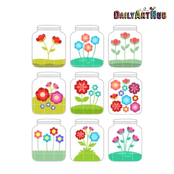 Sweet Jars Clip Art - Great for Art Class Projects!