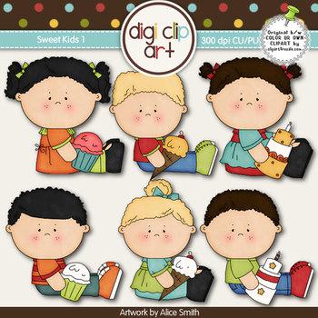 Sweet Kids 1 -  Digi Clip Art/Digital Stamps - CU Clip Art