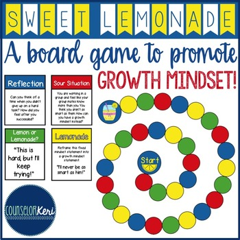 Growth Mindset Board Game - Elementary School Counseling