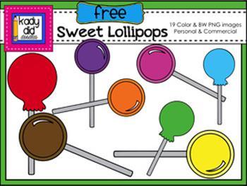 Sweet Lollipops {19 Color & BW PNG images}