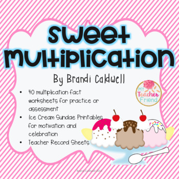 Sweet Multiplication: Complete Multiplication Fact Ice Cre