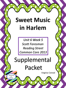 Sweet Music in Harlem--Supplemental Packet--Reading Street
