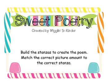 Sweet Poetry - Creating Sentences with Number Word to Pict