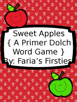 Sweet Primer Dolch Apples { A Primer Dolch Word Game }