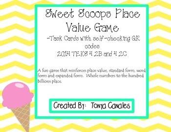 Sweet  Scoops Place Value Game
