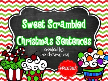 Sweet Scrambled Christmas Sentences FREEBIE