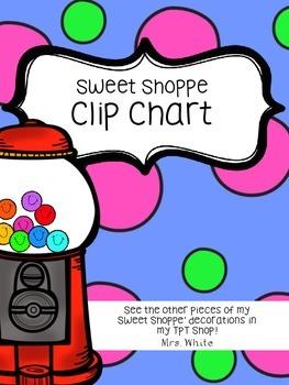 Sweet Shoppe Behavior Clip Chart