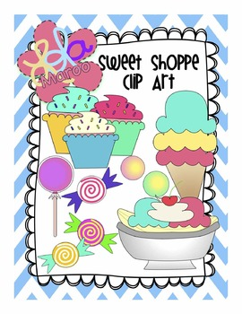 Sweet Shoppe Clip Art: Candy, Ice Cream, Banana Splits!