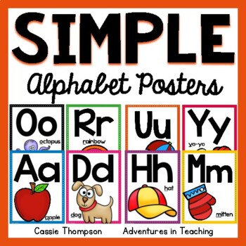 Sweet & Simple Alphabet Posters