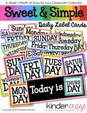 Sweet & Simple Daily Label Cards