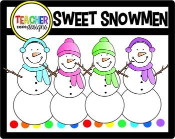 Sweet Snowmen Clip Art