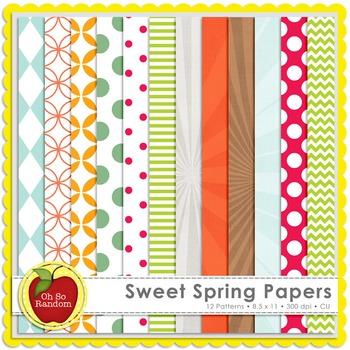Sweet Spring Digital Papers