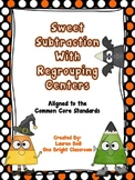Sweet Subtraction with Regrouping Centers {Aligned to Comm