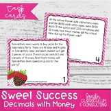 Sweet Success Word Problem Task Cards - Color and Save You