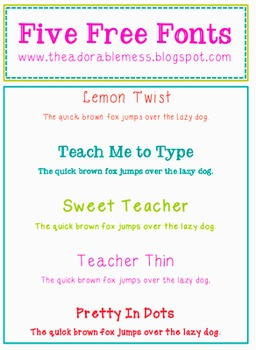 Sweet Teacher Fonts- Commercial Use