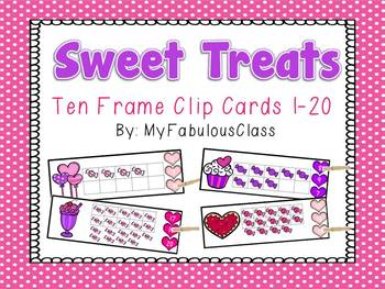 Sweet Treat Clip Cards 1-20
