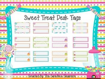 Sweet Treat Desk Tags