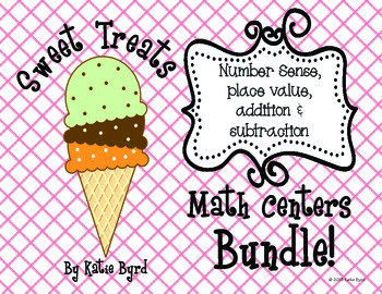 Sweet Treats BUNDLE! Hands ON Math Centers for Common Core