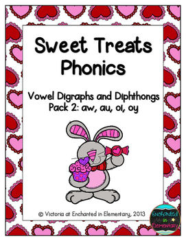 Sweet Treats Phonics: Vowel Digraphs and Diphthongs Pack 2